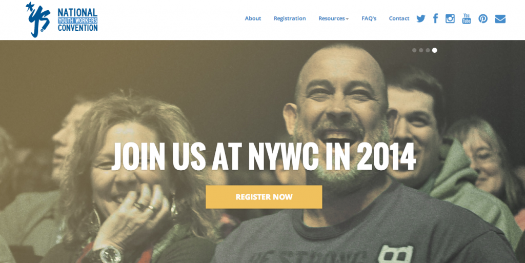 gavoweb creative on the National Youth Workers Convention Home Page